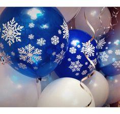 Воздушные шары с гелием на Новый год. Волшебство шариков со снежинками сделает праздник действительно незабываемым!