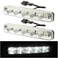 [USD10.92] [EUR9.66] [GBP7.59] High Power Car White 2 x 5 LED Daytime Running Light
