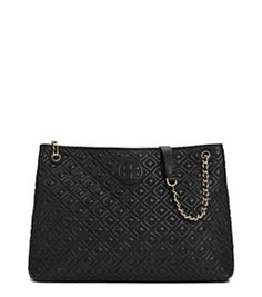 b743bfc7d0dd Tory Burch Marion Quilted Chain-shoulder Slouchy Tote Tory Burch Bag