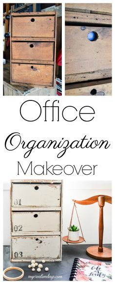Diy Furniture Having a home office that is functional and pretty is important and this office organization project accomplishes both. Diy Organisation, Studio Organization, Home Office Design, Office Decor, Office Table, Office Ideas, Furniture Makeover, Diy Furniture, Furniture Stores