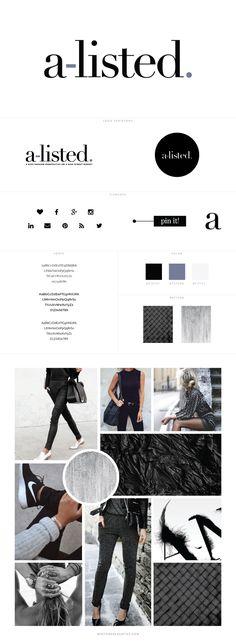 A-Listed Fashion Blog Design by White Oak Creative - logo design, wordpress theme, mood board inspiration, blog design idea, graphic design, branding