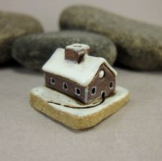 MyLand - Gingerbread Farmhouse - Collectible 3x3 cm or 1.2x1.2 in. puzzle in stoneware by elukka on Etsy https://www.etsy.com/listing/496562409/myland-gingerbread-farmhouse-collectible