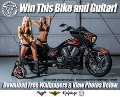REGISTER NOW TO WIN A CUSTOM 2014 VICTORY MOTORCYCLE AND MATCHING EPIPHONE GUITAR!