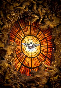 ♥The Holy Spirit window at St. Peter's Basilica in Rome