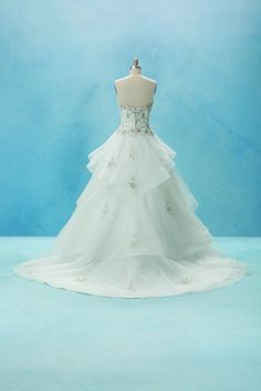 Disney Wedding Dress inspired by Belle (from the back)
