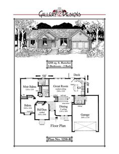 1258-R Small House Plans, House Floor Plans, Best Home Plans, House Blueprints, Cottage Living, Next At Home, Building Plans, Great Rooms, Future House