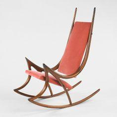 Arthur Espenet Carpenter; Walnut Rocking Chair, 1970.