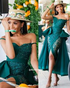 Trends are ever changing. As life is evolving,so are style that makes life beautiful. These selection of the very latest Aso-ebi Styles from our… African Prom Dresses, Latest African Fashion Dresses, African Print Fashion, African Dress, African Bridal Dress, Korean Fashion, Mode Outfits, Dress Outfits, Dress Up