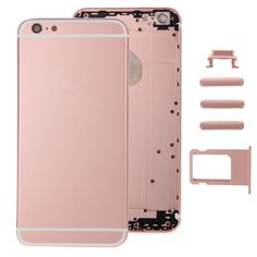 [USD21.57] [EUR19.48] [GBP15.30] iPartsBuy Full Assembly Replacement Housing Cover for iPhone 6, Including Back Cover & Card Tray & Volume Control Key & Power Button & Mute Switch Vibrator Key (Rose Gold)