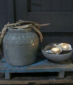 craquele bowl/Kom PTMD ijsblauw