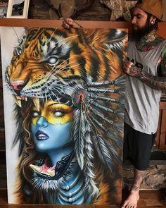 "42 curtidas, 1 comentários - Arte Sem Fronteiras (@artesemfronteiras) no Instagram: ""ArtWork (painting) by Derek Turcotte Instagram : @drkturcotte Facebook : Derek Turcotte  Like :…"""