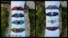 Boho macrame bracelet with semi-precious stone/Gypsy bracelet/Healing jewelry/Hippie style/Boho jewelry/Micromacrame/Beaded/Thetreeoflifeart