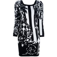 Balmain Baroque Floral Knited Dress