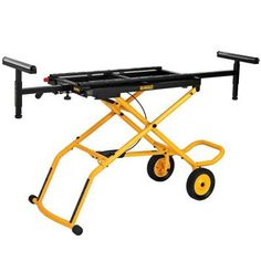 """I think I need to get one of these for the 12"""" Miter Saw. DEWALT32-1/2 in. x 60 in. Rolling Miter Saw Stand"""