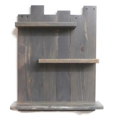 Over the toilet bathroom shelves are made completely from reclaimed wood! This wall shelves for bathroom are just over 18 wide, which is ideal for the standard 21 wide toilet. The height is 24, and the depth is 6. The bottom shelf is 5 deep and the top 2 shelves are 3 1/4 deep.