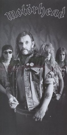 Picture of Motorhead Heavy Metal Rock, Heavy Metal Music, Heavy Metal Bands, Music Is My Escape, Music Love, Music Is Life, Eddie Clarke, Hard Rock, Lemmy Kilmister