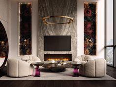 UD-BEDROOM-SUITES-8 Dark Wooden Floor, Art Deco Rugs, Manhattan Apartment, Wooden Ceilings, Interior Design Studio, Luxury Living, Luxury Homes, Living Room, Living Area