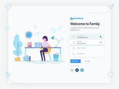 Signup Page register registration field password email typography phone web website webdesign vector people button social user interface experience login signup sign in join color gradient interaction userinteraction illustration character cartoon design ui ux create account forget clean modern minimal
