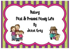 This is a fun unit for students to become Historians and detectives to explore and find out about how family life has changed over time.