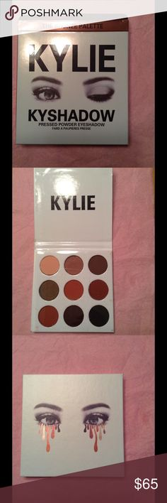 Kylie Jenner Bronze Palette Kyshadow Brand new Kyshadow, pressed powder eyeshadow.  Shades include: Jasper, Quartz, Topaz, Goldstone, Citrine, Tiger Eye, Hematite, Bronzite & Obsidian.  There are some shadow marks on the palette-it arrived that way due to shipping. Kylie Cosmetics Makeup Eyeshadow