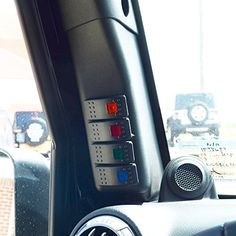 Jeep Wrangler Switch Panel Pod with 4 Switch Combo Put this switch pod in to make your Jeep interior look better and more factory. These switches make wiring the lights very easy. 4 switches come with the combo. One Amber Switch, One Blue Switch, One Green Switch & One Red Switch. Switches will not come …