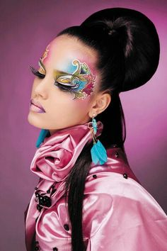 Fantasy make up, flower