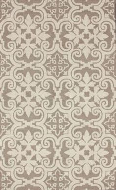 Tuscan Senele Tiles Beige Rug | Contemporary Rugs