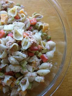 Basil: Tuna Pasta Salad: swap out for whatever veggies on hand. I used cucumber, grape tomatoes, peppers, broccoli, onion and carrot. cheese and turmeric and cumin. Tuna Salad Pasta, Healthy Pasta Salad, Healthy Pastas, Healthy Recipes, Healthy Food, Pasta Dishes, Food Dishes, Side Dishes, Pasta Meals