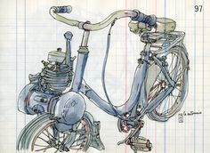 vélo solex by lapin barcelona, via Flickr