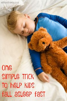 One Simple Trick To Help Kids Fall Asleep Fast. Click here to find out more: http://withlovefromlou.co.uk/2016/02/help-kids-fall-asleep-fast/|Re-pinned by: #TheOilyAnalyst#LifestyleBlogger#AnimalAdvocate#StarWars#EssentialOils#SeekerofLaughter#BloggingAdvice#BloggingHelp#Budgeting#Debt#MakeMoney#PetCare#YoungLivingEssentialOils#YLEO#Funny#Comedy| theoilyanalyst.com