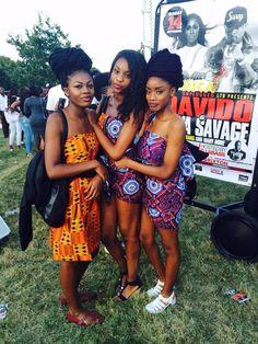 weloveblackgirls: blackfashion: Leanne, Rachael, Laila @ #GhanaPartyInThePark Kente Clothing designed by them. London, www.lailanassali.tumblr.com IG: leanneimani, mifirighanaa, lailanassali I can't take this level of melanin BGKI - the #1 site to view fashionable & stylish black girls