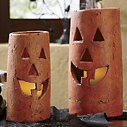 Cost Slab pottery halloween Popular Jack o lantern Clay Pottery Candleholder New No Cost Slab pottery halloween Popular Jack o lantern Clay Pottery Candleholder Jack O' Lantern Flickering Battery Operated LED Candles (Set of Metal Pumpkin Medium Hand Built Pottery, Thrown Pottery, Slab Pottery, Ceramic Pottery, Ceramics Projects, Clay Projects, Ceramics Ideas, Halloween Clay, Halloween Ideas