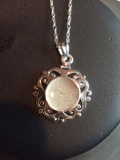 Cremation Ash Jewelry sterling silver pendant by KeepsakeMemorials