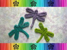 Dragonfly Applique - CROCHET PATTERN (PDF) Detailed Photos. $3.95, via Etsy.