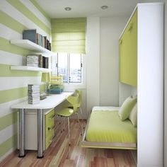 How to turn a tiny room into a cute bedroom.