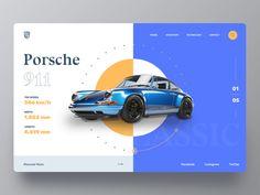 Porsche Car Web Site Porsche Car website home clean store web webdesign retro card car design ui ui ux header website. Design Web, Website Design Layout, Web Layout, Layout Design, Design Cars, Brand Design, Webdesign Layouts, Car Ui, Retro