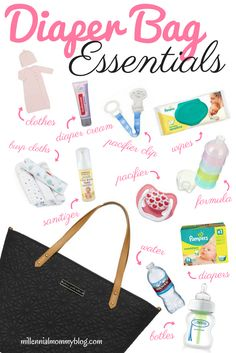 Whats in my Diaper Bag. Don't stuff your bag with useless items. Here is my list of diaper bag essentials for the modern mommy!