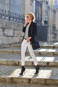 with white jeans