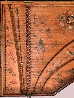 Everbroeck Harpsichord soundboard detail