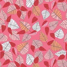 Leaves and Berries Pink ~ Hello Pilgrim @ Sew,Mama,Sew!