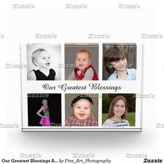 Our Greatest Blessings Add Your Photo Collage Photo Block