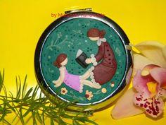 Type 3, Ceramics, Pocket, Facebook, Christmas Ornaments, Mirror, Holiday Decor, Children, Handmade