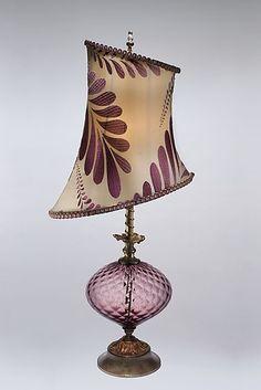 Makaela: Caryn Kinzig and Susan Kinzig: Mixed-Media Table Lamp - Artful Home