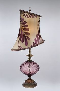 Makaela: Caryn Kinzig and Susan Kinzig: Mixed-Media Table Lamp - Artful Home