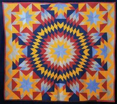 Blazing Star quilt, circa 1880-90, probably from Nashville, Illinois. From the Ardis and Robert James Collection.  Collection of the International Quilt Study Center and Museum.
