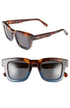47c34eef806 47mm Retro Sunglasses by Salvatore Ferragamo Mens Sunglasses