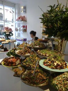 Ottolenghi. The one in the Islington neighborhood is the biggest and best of the restaurants.