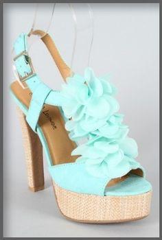 Beautiful aqua shoes $25.90