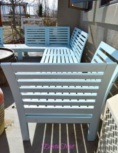 """Our New """"Mint to Be"""" Ikea Applaro Outdoor Sectional Sofa and Fuschia Ikea Loungers – DIY tutorial painting outdoor furniture decor"""