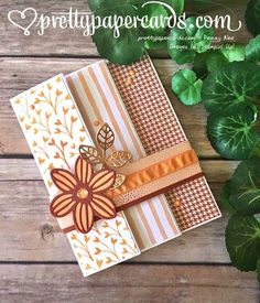 Happy Birthday triple fold. Flourish Thinlits and Mayflower by Peggy Noe. Stampin' Up!